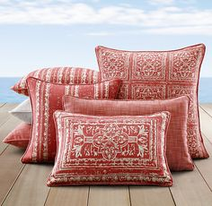We ended up purchasing these pillows for our outdoor space. Got two of the large pillows and four lumbars. It was a bit of a splurge, but wow they are gorgeous!
