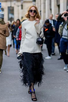 Candela Novembre - Fall 2016 Paris Fashion Week street style - March 2016 - HarpersBAZAAR.co.uk