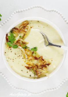 Zupa krem z kalafiora. Gluten Free Recipes, Vegan Recipes, Cooking Recipes, Good Food, Yummy Food, Cream Soup, Polish Recipes, Soups And Stews, Food And Drink