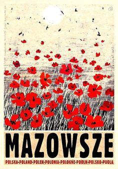 Mazowsze, Mazovia, Polish Poster