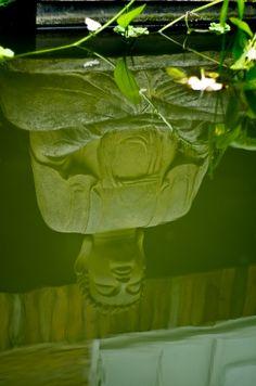 Buddha reflected in still water.