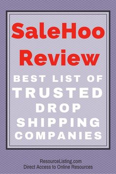 SaleHoo review - find out the pros and cons of using SaleHoo, access its list of trusted drop shipping companies, and… http://itz-my.com
