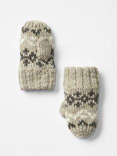 Marled fair isle mittens