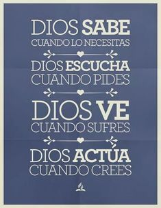 Dios lo hace todo en muestra vida, cuando lo dejamos actuar The Words, Gods Not Dead, Believe In God, God Loves Me, Bible Verses Quotes, Quotes About God, Dear God, God Is Good, Word Of God