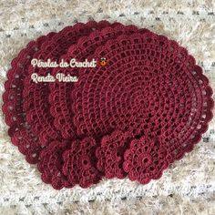 * Pérolas do Crochet: VIDEO AULA - Sousplat em croche modelo Pérolas