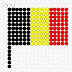Kralenplank Vlag België Melting Beads, Perler Beads, Pixel Art, Retro, Mandala, School, Sports, Projects, Bead Patterns