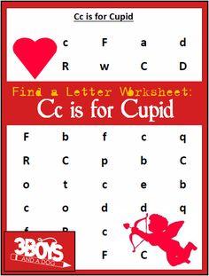 letter find worksheets - Find the Letter C is for Cupid