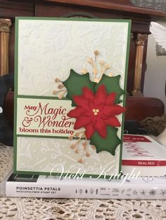 Christmas Poinsettia, Christmas Cards, Stampin Up Cards, Bloom, Frame, Holiday, Handmade, Christmas E Cards, Picture Frame