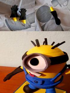 como fazer minion eva 4 Como fazer um Minion de EVA Goma