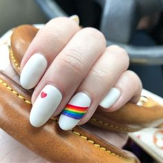 22 Extremely Colorful Nail Art Ideas for Pride - - Addpins Rainbow Nail Art Designs, Colorful Nail Art, Acrylic Nail Designs, Crazy Nail Designs, Aycrlic Nails, Cute Nails, Pretty Nails, Stiletto Nails, Crazy Nails