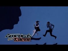 Blue Journey: Duo Performs Multimedia Visual Dance - America's Got Talent 2014 - YouTube