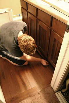 The House of Smiths - Home DIY Blog - Interior Decorating Blog - Decorating on a Budget Blog really cheap floor idea