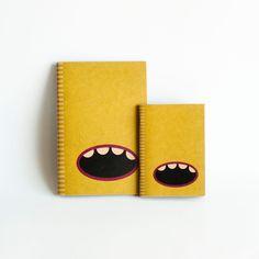 SET OF 2 : Kraft Paper & Saddled Stitched Notebooks - Green Monster. $13,50, via Etsy.