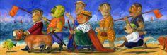 PINO PROCOPIO - 'Matrimonio a corte', Serigrafia, cm. 30x70, edizione 2012