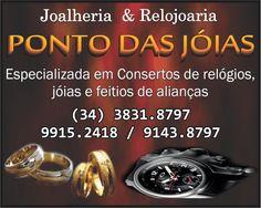 A Joalheria & Relojoaria Ponto das Joias é um parceiro do Guia OlhouLigou, na Joalheria & Relojoaria você encontra variedade em joias e feitios de alianças.