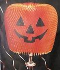 Vintage Hallmark Halloween Honeycomb Jack O Lantern JOL Lamp Shade Cover