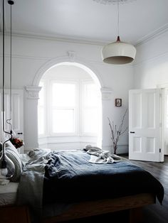 casual and bright bedroom