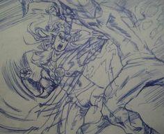 dibujo historieta antigua!! trazos a lapicero