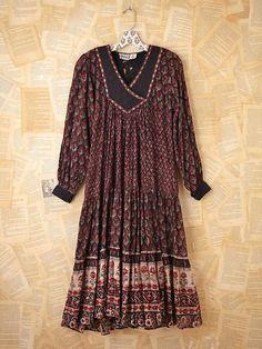 Namaste Vintage 1970s Indian Cotton Dress for Sale