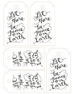 Free Calligraphy Printable Tags (The Hive Studio: www.lindseybee.com)!* *Each gift tag was inspired by favorite Christmas songs &/or movie q...