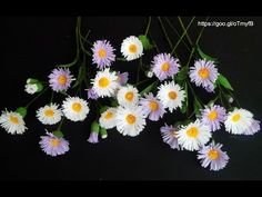 Wild Flower / Erigeron annuus with crepe paper - Craft Tutorial Faux Flowers, Diy Flowers, Fabric Flowers, Paper Cactus, Paper Plants, Tissue Paper Flowers, Paper Roses, Crepe Paper Crafts, Fleurs Diy