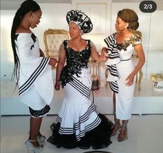 African Wedding Attire, African Attire, African Fashion Dresses, African Dress, South African Traditional Dresses, Traditional Wedding Dresses, Dream Wedding Dresses, Bridal Dresses, Xhosa Attire