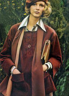 Karen Bjornson by Toscani for Vogue, 1974.