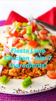 Spicy Recipes, Turkey Recipes, Mexican Food Recipes, Chicken Recipes, Healthy Recipes, Mexican Hat, Mexican Dishes, Fiesta Lime Chicken, Chicken Items