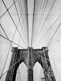 Detail of the Brooklyn Bridge Photographic Print by Alfred Eisenstaedt at Art.com