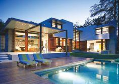 Modern Home Rear View