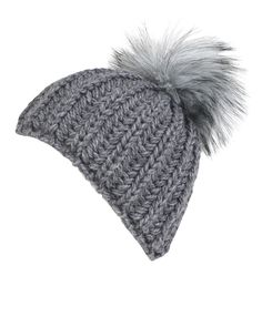 68548a4cc4f We have added a cool cable knit design to Jigsaw s bestselling Amelia hat.  The cute faux fur pom pom retains its bobble hat appeal and gives it a  fashion ...
