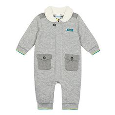 6e88ea74001a Baker by Ted Baker Baby boys  grey quilted all in one