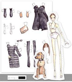 (⑅ ॣ•͈ᴗ•͈ ॣ)♡                                                             ✄Free Printable: Fashionable Paper Dolls