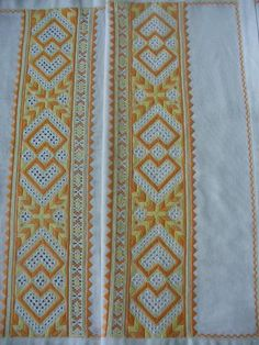 Čičmiansky vzor Folk Embroidery, Folk Costume, Folklore, Quilts, Pattern, Symbols, Design, Quilt Sets, Patterns