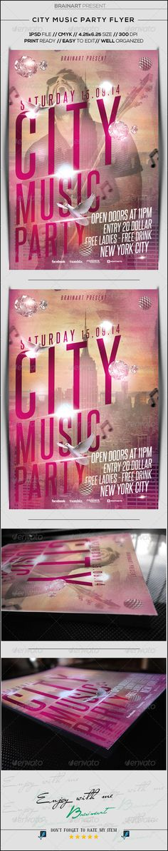 City Music Party Flyer