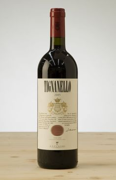 "Italian red wine ""Tignanello""."