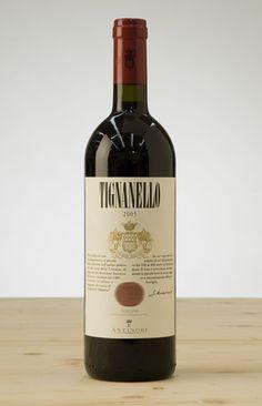 """Italian red wine """"Tignanello""""."""