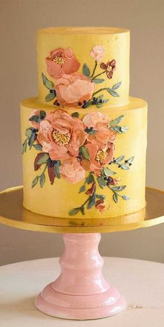 Pretty Cakes, Beautiful Cakes, Amazing Cakes, Cupcakes, Cupcake Cakes, Autumn Wedding Cakes, Bolo Cake, Painted Cakes, Buttercream Flowers