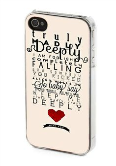 iPhone case, iPhone 4/4s case, iPhone 5 case, Samsung Galaxy s3/s4 case, One Direction Truly Madly Deeply