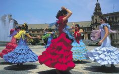 The streets of Andalusia would be a great backdrop for dramatic colors. Althought it would be hard to compete with the flamenco dancers and their colorful dresses!
