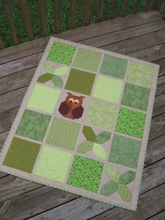 Tic Tac Hoot quilt by Canuck Quilter Designs