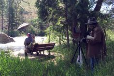 As part of the Paint the Poudre Art Show and Sale, Northern Colorado plein air artists, including Mary Giacomini and Jennifer Cline, met up in the Poudre Canyon to paint.