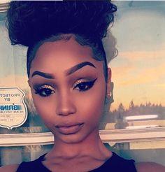 black women's makeup in Makeup On Fleek, Flawless Makeup, Glam Makeup, Love Makeup, Skin Makeup, Beauty Makeup, Sweet Makeup, Stunning Makeup, Black Girl Makeup