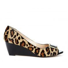 Suzie peep toe wedge » Great height.
