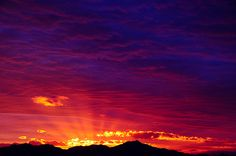 """Arizona sunset... not a case of """"You've seen one, you've seen them all"""""""
