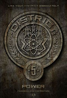 The Hunger Games District Seals - The industry of District 5 is power.
