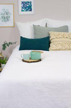 Housse de couette adulte en coton bio et lin + taies Kadolis Coton Bio, Decoration, Bed, Furniture, Authentique, Home Decor, Style, Bed Quilts, Bedding