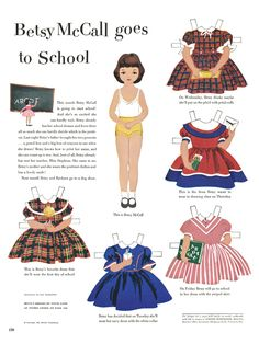 I remember looking forward to Moms McCalls Magazine each month because it always had a page of Betsy McCalls paper dolls.  We could cut them out and play with them and I loved them!