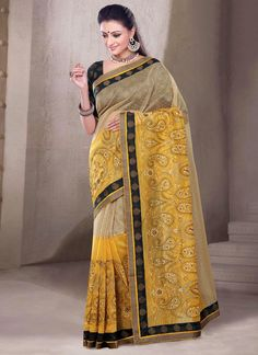 Swanky Chanderi Cotton Multi Colour Casual Saree