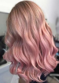 Beautiful Rose Gold Hair Color Ideas 02